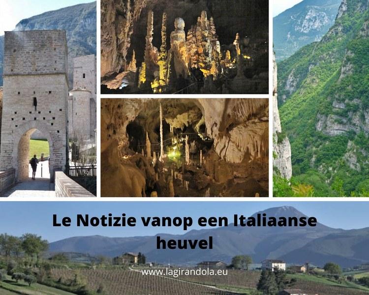Op stap in le Marche: Grotten van Frasassi en omgeving.