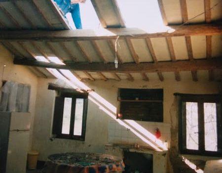 Orkaan in maart 2001: daar ging onze dakisolatie…